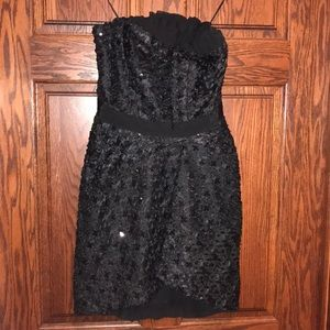 MM Couture black sparkle homecoming dress S